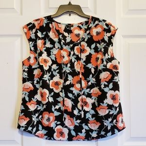 Talbots Floral Sleeveless Top